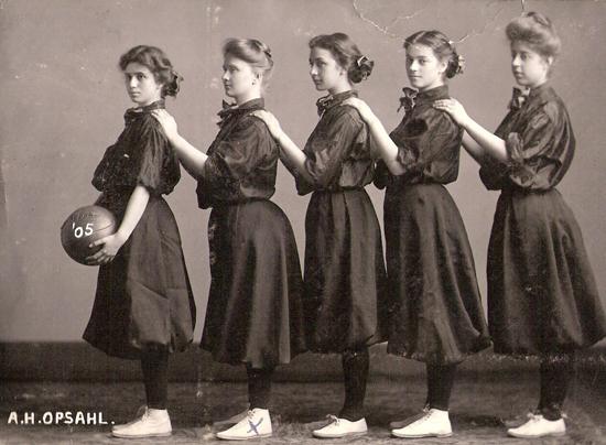The 1905 University of Minnesota women's basketball team.