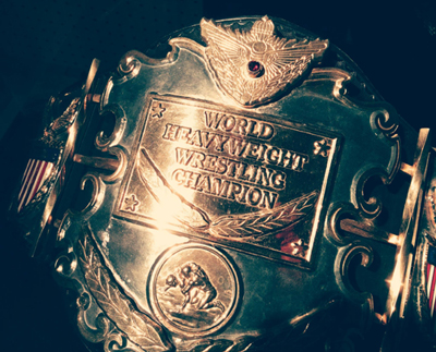 Verne Gagne's championship belt was on display at the Minnesota History Center in 2014.