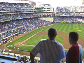 The view of Target Field from the suites is one you don't want to miss