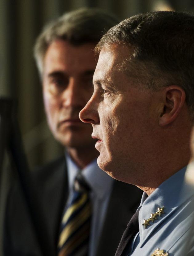 Mayor R.T. Rybak and Police Chief Tim Dolan