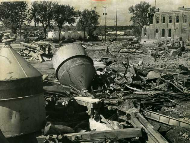 Gluek brewery during 1966 demolition                             Star Tribune file photo