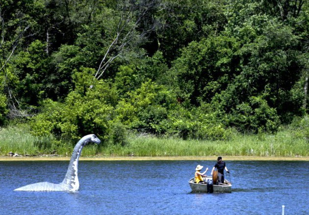 Minne, the lake monster, at Wirth Lake, which has no voting precinct, unlike Lake Calhoun.