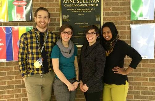 Pictured: James Kindle, Laura Byard, Kaitlin Lindsey, Ayan Mohamed
