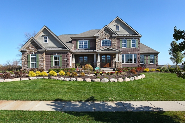 A model home typical of those that will be built at Eden Prairie Woods, the newest Toll Bros. community in Minnesota