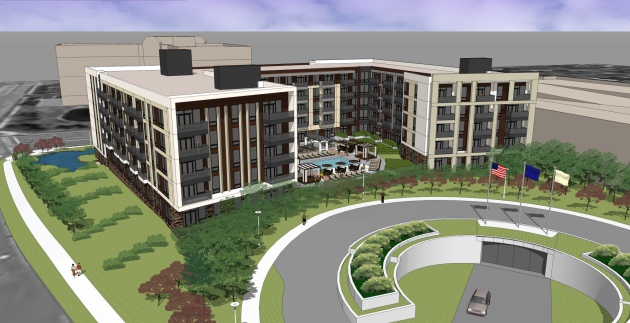 The Arcata will be 165 luxury apartments adjacent to the Colonnade Office Tower and south of Golden Hills Office Center on Golden Hills Drive.