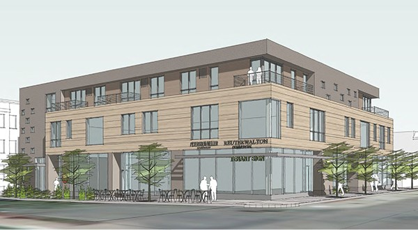 A rendering of the 16Twenty building proposed for 1620 W. Lake St.