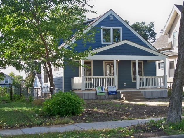 This house at 1411 Sheridan Avenue North recently went through a top-to-bottom renovation and sold for $99,900 with the assistance of CLCLT..