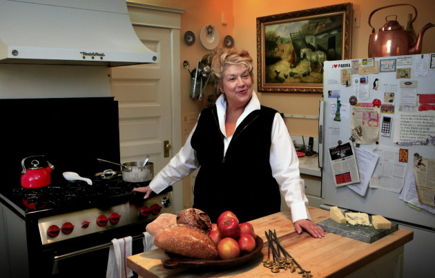 "This Star Tribune staff photo was taken in January 2008 for a visit to Kasper's kitchen, her favorite room in house. The refrigerator has been replaced with a modern stainless steel model, but not the 18,000 BTU Wolf stove, which she calls ""Babe,"" that was purchased with her first royalty check from her book ""The Splendid Table"","