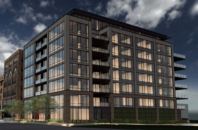 Here's the latest rendition of the 602 Residences condo building.