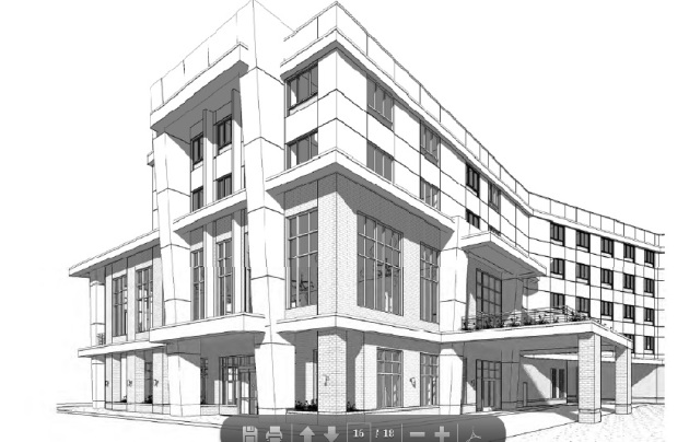Huron & Essex Hotel rendering by DJR Architecture