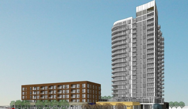 Rendering of phase one by ESG Architects