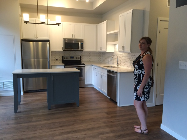 A kitchen at Latitude 45.