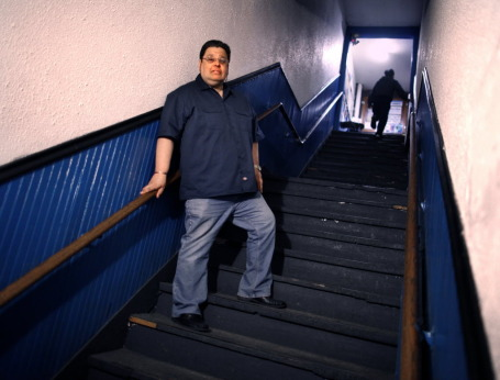 Ted Wilebski won't have to climb the stairs to get to his Blues Saloon anymore. / Photo by Tom Wallace, Star Tribune