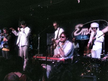 Gayngs performing in Austin pre-festival.