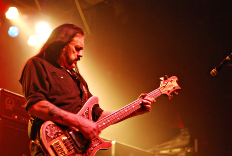 Lemmy at Motodhead's last First Ave show in 2008 (he's looked the same for 30 years). / By Leslie Plesser