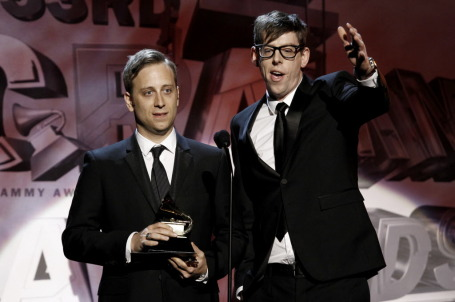 New Grammy winners Dan Auerbach, left, and Patrick Carney won't win any awards playing Roy Wilkins on Independence Day weekend. / Associated Press