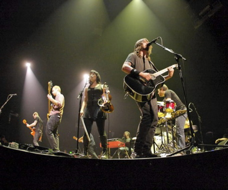 Violinist Jessy Greene, center, appears in the new Foo Fighters documentary. / Photo by Jack Butler