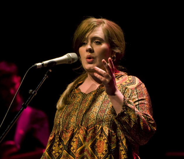 Adele at the Fitzgerald Theater last year. / Star Tribune file photo