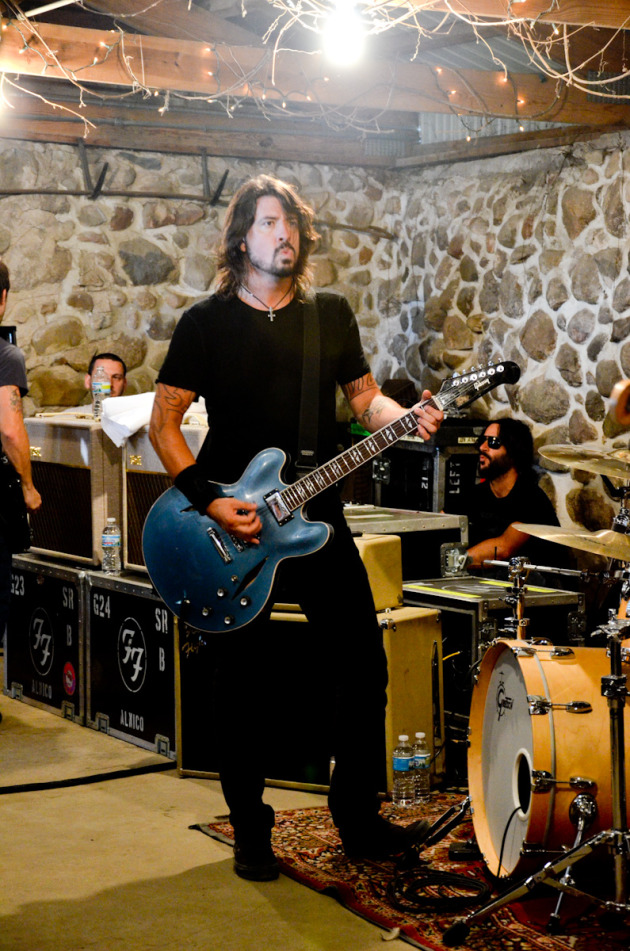 Dave Grohl at the Foo Fighters' garage show Tuesday in White Bear Lake. / Photos by Doug Nelson, courtesy 93X FM