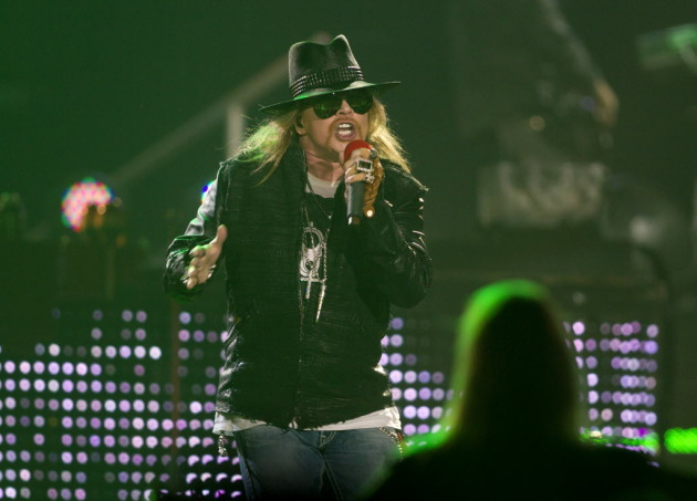 "Axl Rose played it cool Sunday night at Target Center and even went on ""early"" (11:15 p.m.) / Photos by Renee Jones Schneider"