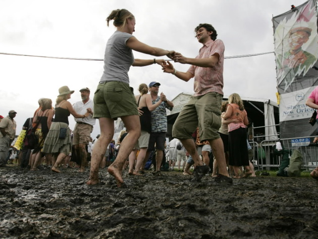 Jazz Fest in New Orleans: It's much lovelier than it looks here. / Dave Martin, AP