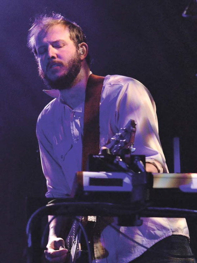 Justin Vernon at Bon Iver's gig in Eau Claire last month. / By Andi Stempniak, Eau Claire Leader Telegram