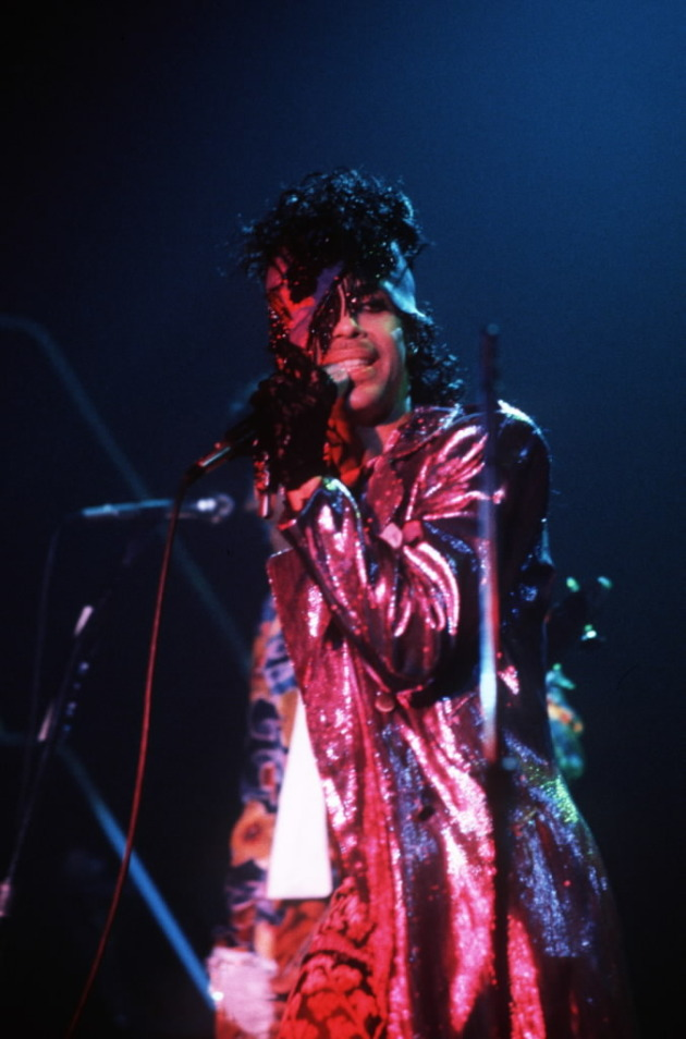 "Prince at First Avenue in 1984 around the time of ""Purple Rain's"" release. / David Brewster, Star Tribune file"