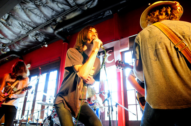 Paul Sprangers, center, and Free Energy made a splash at SXSW in 2012 and will return next week. / Photo by Tony Nelson