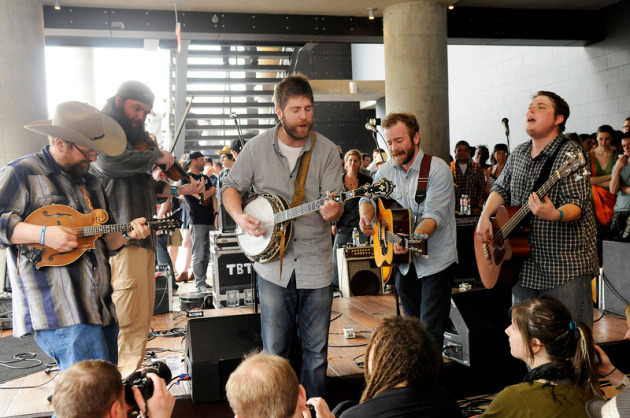 Trampled by Turtles are getting good at surprises, such as this uninentionally unplugged set at South by Southwest two weeks ago. / Photo by Tony Nelson