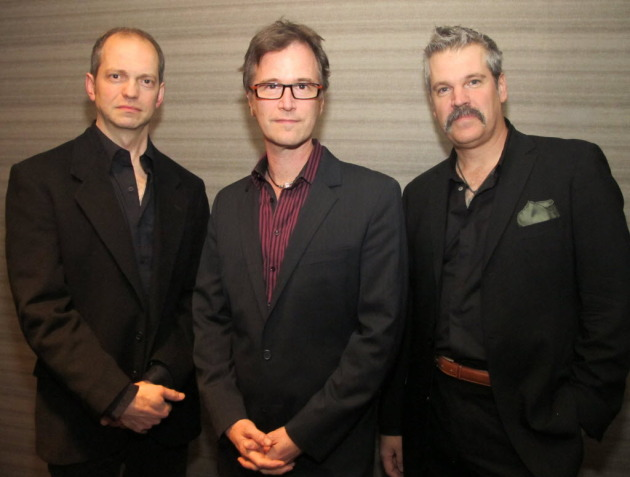 Semisonic's Jacob Slichter, Dan Wilson and John Munson at last year's Butterball fundraiser. / Star Tribune photo by Sara Glassman