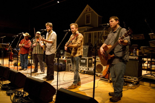 "Trampled by Turtles return to an international broadcast stage tonight on ""Late Show With David Letterman."" / Photo by Stephan Hoglund for Star Tribune"