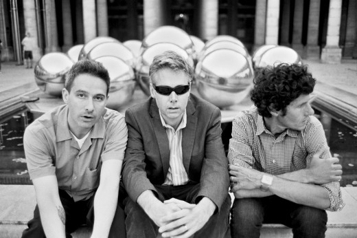 Adam Yauch, center, sandwiched by his Beastie brothers Adam Horovitz, left, and Mike Diamond. / Photo by Phil Andelman
