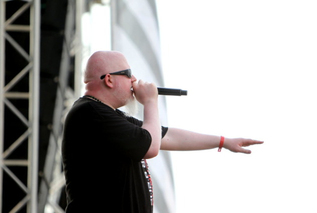 Brother Ali played host all day on the mainstage at Sunday's Soundset festival. / Photo by Courtney Perry