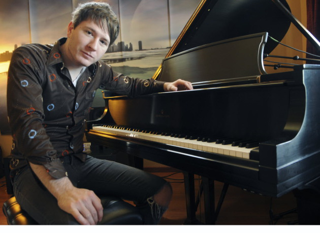 Adam Young at home in Owatonna last year, where he does all his recording. / Richard Sennott, Star Tribune