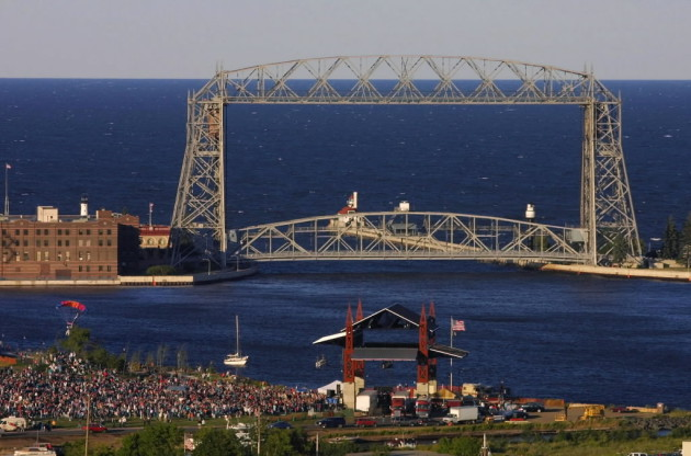 It should be clear sailing for the concerts in Duluth's Bayfront Festival Park, in the shadow of the Aerial Lift Bridge. / Jeff Wheeler, Star Tribune
