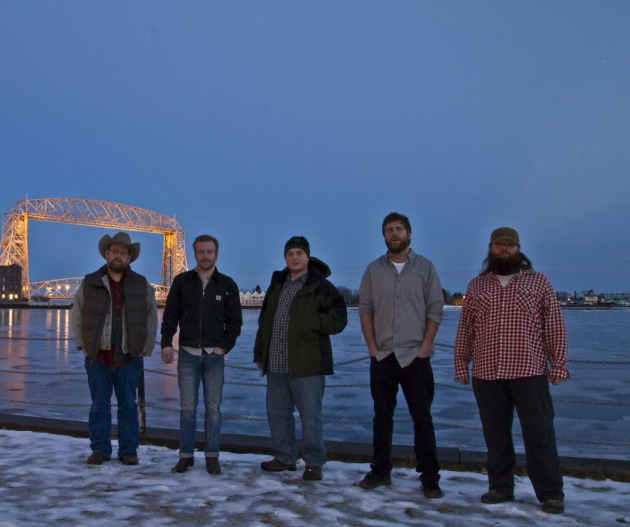"Trampled by Turtles took a smoke break after their ""A Prairie Home Companion"" appearance in February. / Photo by Stephen Hoglund"