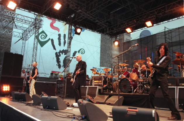 The Smashing Pumpkins smashed local attendance records at the Aquatennial Block Party in 1998, when more than 75,000 fans attended the free event. / Star Tribune file, Jeff Wheeler