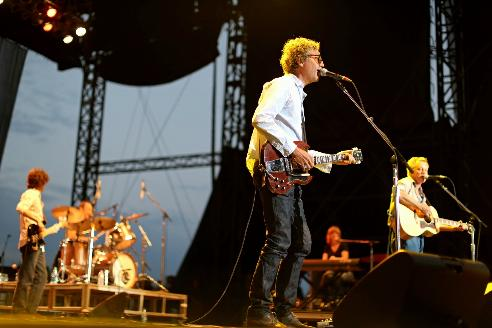 "The Jayhawks played ""Blue"" with Friday night's blue moon over the State Fair grandstand. / Photos by Renee Jones Schneider, Star Tribune"