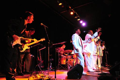 "The Valdons sounded spotless at Saturday's release party for the ""Twin Cities Funk & Soul"" compilation at the Cedar Cultural Center. / Photo by Steve Cohen"