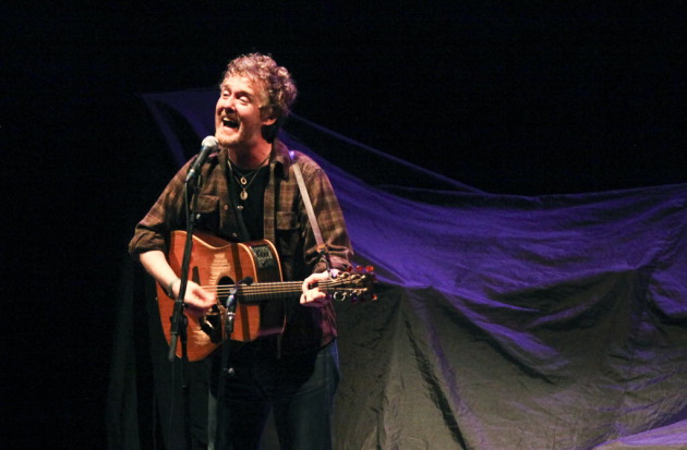 Glen Hansard opened for Eddie Vedder at the Orpheum last summer and did another short solo set midway through Saturday's show. / Kyndell Harkness, Star Tribune