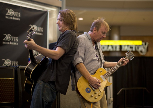 Dave Pirner, left, and Dan Murphy played the Mall of America in June, a sign of the heavy promotion behind Soul Asylum's new album. / Jeff Wheeler, Star Tribune