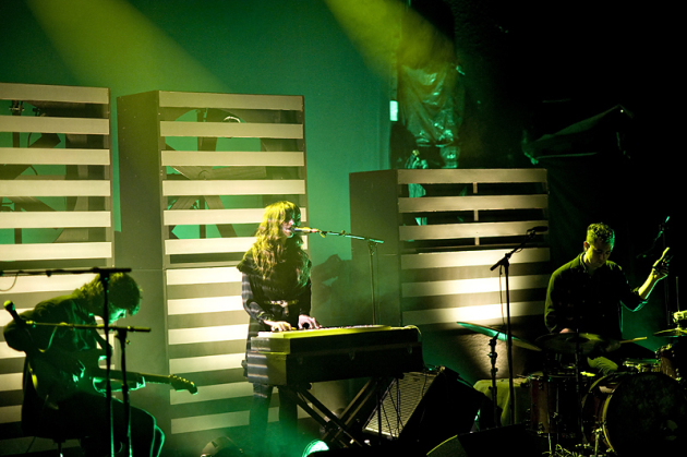 Beach House delivered a shadowy, 100-minute set before a sold-out crowd Tuesday at First Avenue. / Photos by Leslie Plesser