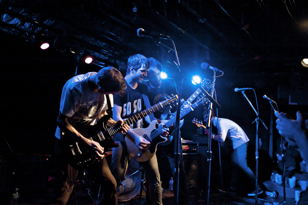 Titus Andronicus started the cavalcade of guitars in the Entry on Thursday before Friday's Replacements tribute. / Photos by Leslie Plesser