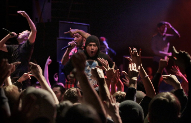 The crazed scene from Doomtree's Blowout VII shows last December at First Avenue. / Tom Wallace, Star Tribune