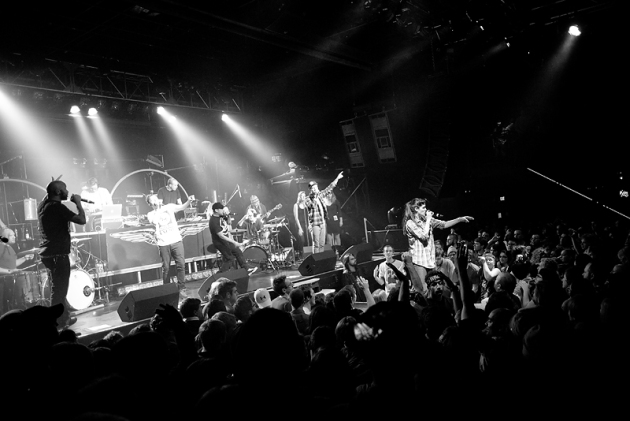 Doomtree debuted its live-band redux starting with Friday's Blowout concert at First Avenue. / Photos by Leslie Plesser