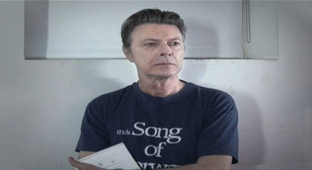 "A screen grab from the video for David Bowie's new song ""Where Are We Now?,"" which appeared overnight."