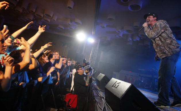 Slug worked the crowd in Mankato on the first Welcome to Minnesota Tour in 2011. / Tom Wallace, Star Tribune