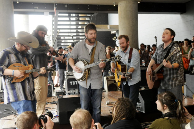 "Trampled by Turtles played an unexpectedly unplugged set outside the ""Austin City Limits"" studio during South by Southwest in 2012. / Photo by Tony Nelson"