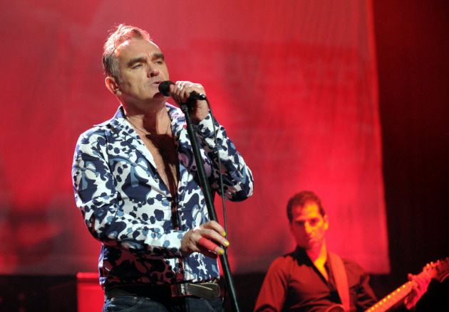 Morrissey wasn't exactly dressed for winter weather at his show last week in Reading, Pa. / Matt Smith, Associated Press
