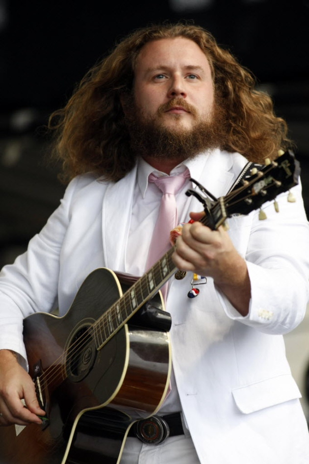 Jim James at last summer's Newport Folk Festival. / Joe Giblin, Associated Press